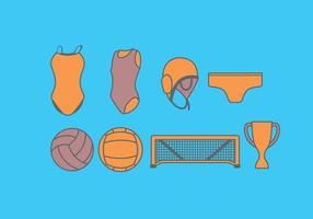 Water Polo Equipment Vector