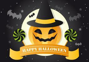 Jackolantern-witch-vector-background