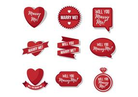 Gratis Marry Me Sticker Vector