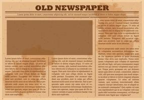 Vector de periódico viejo