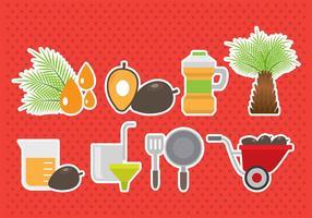 Iconos de aceite de palma