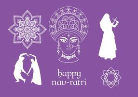 Navratri-vector-elements