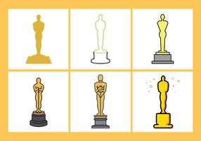 Oscar Statue Vector Set
