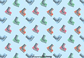 Flat Roller skaters Pattern Background