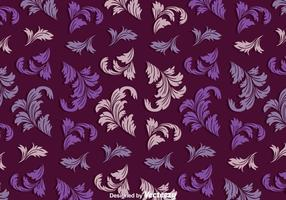 Vintage Acanthus Purple Pattern