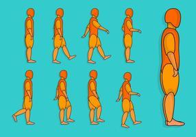 Mänsklig promenadcykel