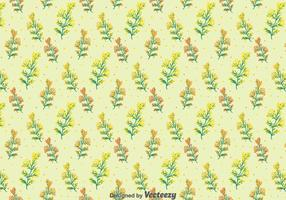 Mimosa Flowers Seamless Pattern vector