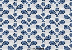 Blue Cashmere Ornament Pattern