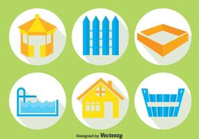 Home Decoration Element Icons Vector