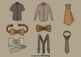 Hand Drawn Man Accessories Vector Set