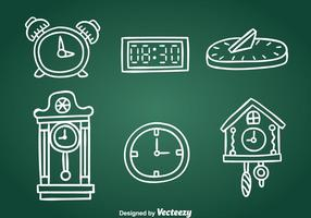 Handgetekende Clock Collection Vector