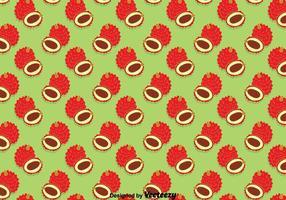 Lychee Fruits Seamless Pattern