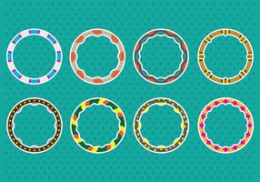 Hula hoop Icons vector