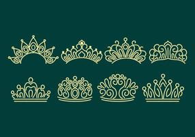 Pageant Crown Icons vector