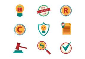 Free Patent and Copyright Vector Icons