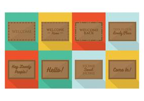 Welcome Mat Designs Vector