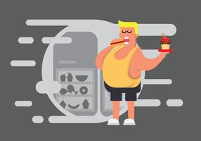 Free Fat Guy Illustration