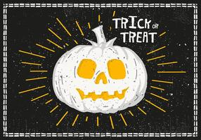 Bright Halloween Pumpkin Vector Illustration