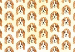 Vector Waterverf Dog Pattern