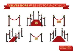 Velvet Rope Free Vector Pack Vol. 2