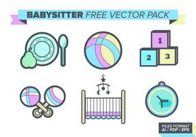 Paquet de vecteur libre de baby-sitter
