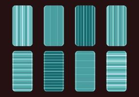 Teal Phone Case Vecteurs à rayures