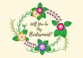 "Free ""Will you be my bridesmaid"" Card Design Vector"