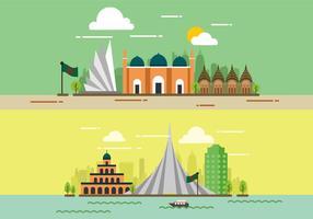 Ciudad de Bangladesh Vector
