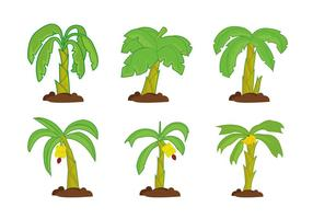 Banana tree vector pack