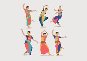 Vecteur de danse des femmes indiennes