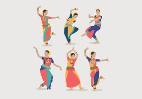 Indian Women Dancing Vector