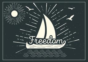Free Ship Vector  Typography