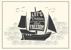 Free Boat Vector  Typography