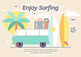 Fond de vecteur de surf gratuit