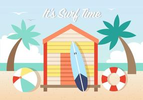Surfing Vector Background