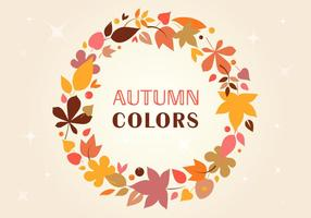 Autumn Vector wreath