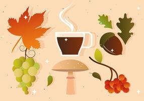 Vetores de outono e outono