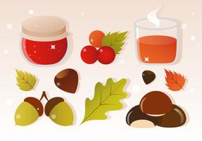 Free Vector Cider and Autumn Elements