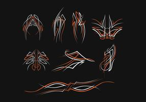 Gratis Pinstripes Vector Set