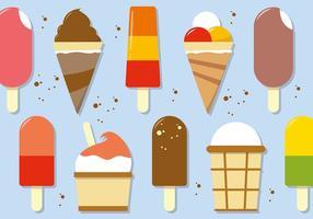 Ilustración vectorial de helado gratis