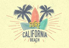Illustration vectorielle gratuite Vintage Surf