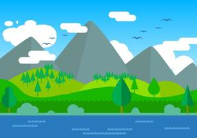 Illustration vectorielle libre de paysage