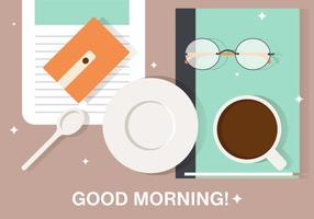 Gratis Morgon Kaffe Break Vektor Illustration