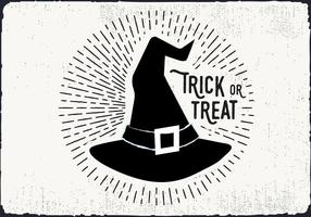 Hexe Hut Trick oder Treat Illustration