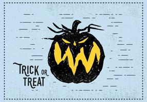 Trick or Treat Jack-o-Laterne Illustration