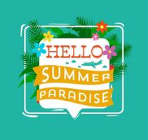 Hello Summer Typography vector