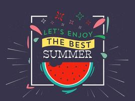 Free Vector Summer Typography