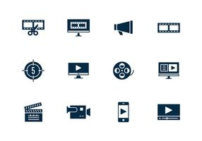 Simple Video Editing Icon
