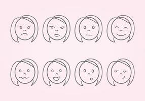 Iconos de expresión vectorial
