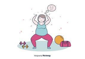 Mulheres gordas exercendo